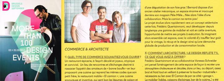 Design September – Concours Commerces Design Brussels – Award 2013